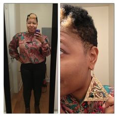 My colorful vintage blouse with my Eye of Horus earrings