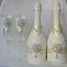 Самое стильное оформление шампанского и бокалов для вашей свадьбы - Цветы, украшения, праздничное оформление во Владивостоке