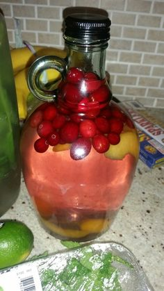 Cranberry Peach Rum (Double Click For Recipe)