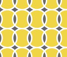 circle geometric yellow fabric by mariafaithgarcia on Spoonflower - custom fabric
