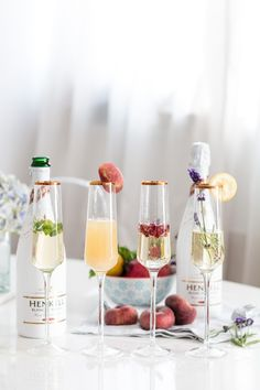 Delicious mixing Inspiration for spring #henkell #sparkling #sparkingwine