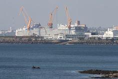 un monstre dans le port de Brest