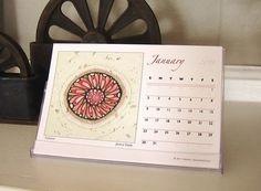 Mandalas in calendar from a special artist