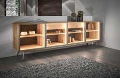 Massivholz-Möbel mit Materialmix Cabinet, Storage, Design, Furniture, Home Decor, Wood And Metal, House, Clothes Stand, Purse Storage