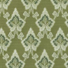 Upholstery Fabric - Brenner Cactus Floral - Medium Trellis/Lattice Fabric Pattern