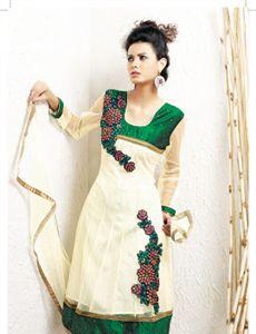 Adah_208_6380 - Designer Embroidery Unstitched Suit