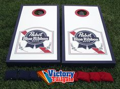 SALE Pabst Blue Ribbon / PBR Cornhole Toss Game by VictoryTailgate, $160.00
