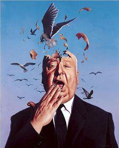 Alfred Hitchcock (qui ritratto da Jim Warren http://www.jimwarren.com/site/)
