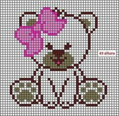 Girl Teddy Bear C2C