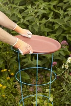 Recycled bird baths