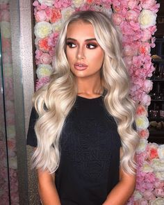 [New] The 10 Best Braid Ideas Today (with Pictures) - Throwback to our babe wearing Double Hair Set Clip-in extensions in shade 'Iced Blonde' styled with the Professional Styler wand DM to shop Beauty Works Hair Extensions, Blonde Hair Extensions, Ice Blonde Hair, Blonde Hair Looks, Brown Eyes Blonde Hair, Ash Blonde, Platinum Blonde, Summer Hairstyles, Pretty Hairstyles