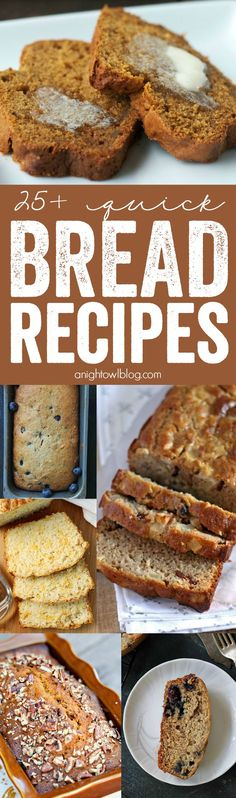 The perfect list for fall! Take your pick from this delicious list of 25+ Quick Bread Recipes, from apple to zucchini!