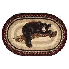 Enjoy cost savings up to on our great collection of bear rugs, including this Bear Cub Braided Rug from Black Forest Decor! Black Bear Decor, Black Forest Decor, Rustic Area Rugs, Braided Area Rugs, Bear Rug, Area Rug Sets, Bear Design, Bear Print, Beige Area Rugs