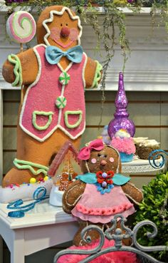Check Out 23 Whimsical Christmas Decorating Ideas To Try This Year. whimsical Christmas decor, you won't want to live without these bright Christmas decorations. Candy Land Christmas, Christmas Gingerbread House, Purple Christmas, Whimsical Christmas, Colorful Christmas Tree, Magical Christmas, Gingerbread Man, Bright Christmas Decorations, Gingerbread Decorations
