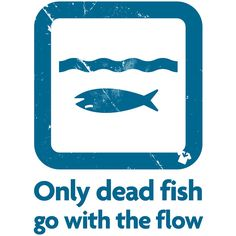 Only-dead-fish-go-with-the-flow by All Up Front, via Flickr