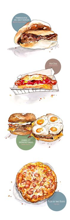 food illustrations / LIFE and STYLE on Behance