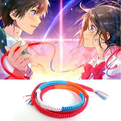 Movie Makoto Shinkai Kimi no na wa Your Name Bracelet Chain Handmade #Unbranded