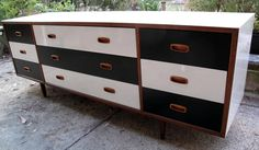 Upcycled Danish Style Alrob Chest of Drawers Buffet Sideboard Teak