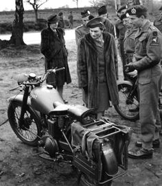BSA M20 - At the outbreak of World War II BSA were Britain's largest motorcycle manufacturer with a long history of armaments supply to the armed forces. Designed by Val Page the BSA M20 started development in 1937 as a heavy-framed sidecar model with a simple 500 cc single cylinder side valve engine. It had low compression and plenty of low-end torque through a standard BSA gearbox.
