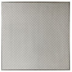 null Kingsbridge 2 ft. x 2 ft. Lay-in or Glue-up Border Ceiling Tile in Antique Silver (48 sq. ft. / case)