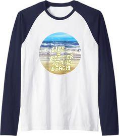 Amazon.com: Life Is Really Good Summer Beach Vacation Graphic Raglan Baseball Tee : Clothing, Shoes & Jewelry