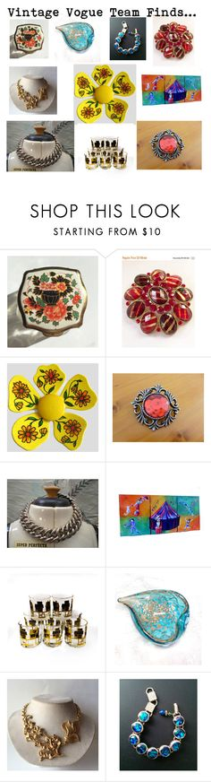 """Vintage Vogue Team Finds...Mother's Day Gift Ideas"" by martinimermaid on Polyvore featuring vintage"