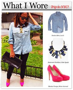 What I Wore to NYC ... @Brian_Atwood shoes, @ToryBurch necklace and @Levis shirt