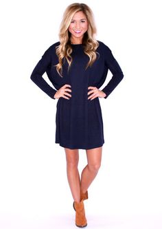 Perfect Little Tunic Navy | Impressions Online Women's Clothing Boutique