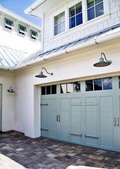 Outdoor Barn Lights For A Garage! Great Garage Door Too!