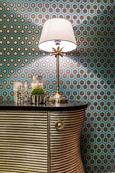 Guest Room ✧ Designed by www.tonyhouse.ru  / Cole & Son wallpapers #coleandson / Zara Home lamp #zarahome
