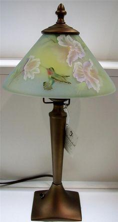 Fenton Lamps, Fenton Glassware, Tiffany Art, Tiffany Lamps, Painting Lamps, Oil Lamps, Antique Lamps, Vintage Lamps, Glass Art