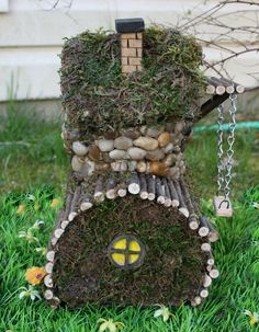 fairy house with swing
