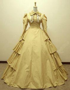 >> Click to Buy << Hot sale! Yellow cotton  ball gown 1800S Victorian dress Civil war  Halloween Renaissance Cosplay  Dress V-802 #Affiliate