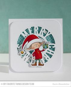 Peppermint Patty's Papercraft: My Favorite Things Die-namics Design; Christmas Card Components