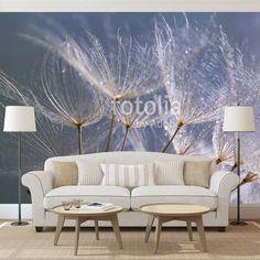 Fotobehang Dandelion (grijsblauw) | Maak het jezelf eenvoudig en bestel fotobehang voorzien van een lijmlaag bij YouPri om zo gemakkelijk jouw woonruimte een nieuwe stijl te geven. Voor het behangen heb je alleen water nodig! #behang #fotobehang #print #opdruk #afbeelding #diy #behangen #dandelion #grijs #blauw #natuur