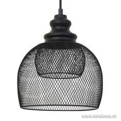 *Gaas hanglamp Karleen zwart slaapkamer - www.straluma.nl