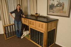 Check out how some folks are combining crate training with high end style.