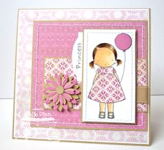 PI Birthday Girl - I love the little side tag greeting