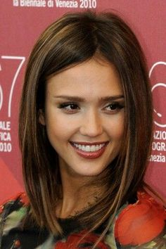 Long Bob (LOB) great for women over 30. Parted in the middle or side, styled straight, wavy or messy. It's chic!