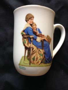 Norman Rockwell Bedtime Mug by NovemberE on Etsy