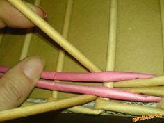 Řetízek pletený ze čtyř ruliček