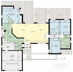 Plan Rez-de-chaussée - maison - Maison fonctionnelle
