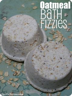 All-Natural Oatmeal Bath Fizzies~ Oatmeal, Baking Soda, Bee Pollen, Citric Acid, Essential Oils, Witch Hazel