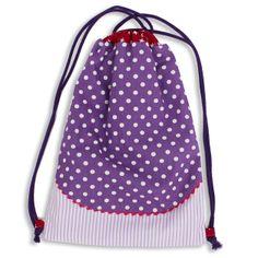 Turnbeutel mit kontrast Futter , als Rucksack zu tragen. Ich kann auch passend zu jedem Turnbeutel die Schultüte, Rollmäppchen , Schürze und Flötentasche fertigen