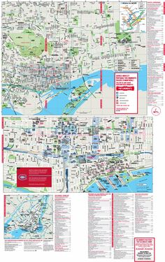 Toronto downtown map Maps Pinterest Toronto and City