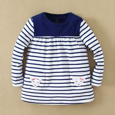 Girls Long sleeved shirt -Navy blue