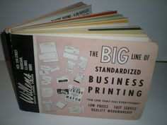 WILLEN'S DAVID LIONEL PRESS PRINTERS SALESMANS SAMPLE BOOK1960'S HUGE LOADED #WILLENSDAVIDLIONELPRESS