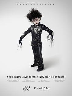 Edward Scissorhands - Personagens mirins de filmes famosos   Criatives