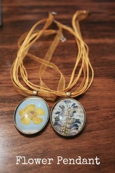 DIY Flower Pendant Necklaces