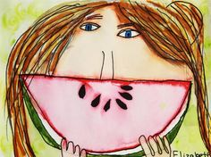 """Watermelon Smiles""--great End of the Year project!"